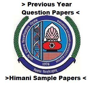 View and Download 2016 B.Ed. Previous Year Question papers All Semesters MDU Rohtak