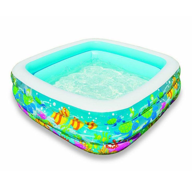Intex Clearview Aquarium Square Inflatable Pool, Multicolor