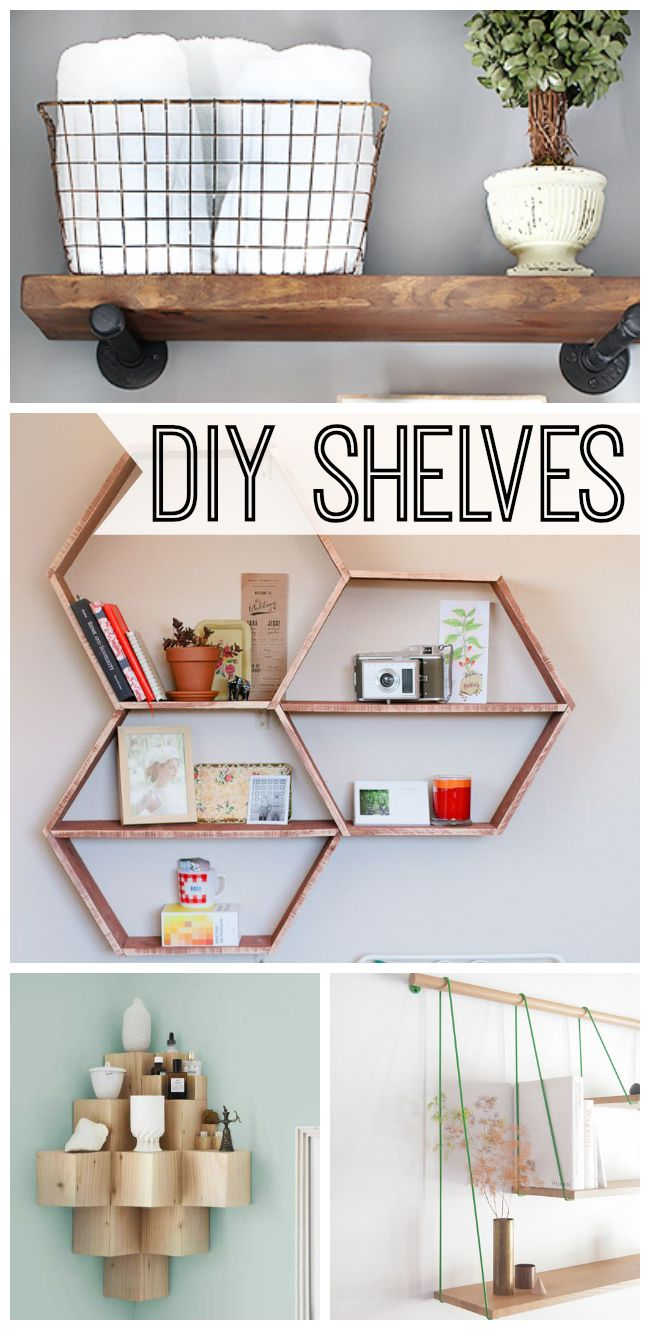 10 Stylish DIY shelves for your kitchen, home and office that you can make yourself to maximize your space. Such great ideas!