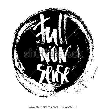 Full nonsense t-shirt black and white serigraphy print grunge lettering