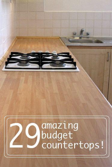 29 cheap kitchen counter tops!