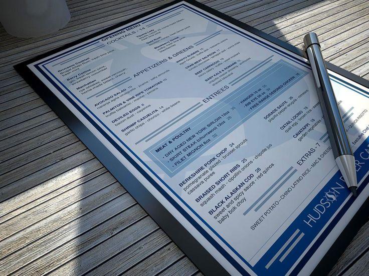 Hudson River Cafe | Opening Menu Design