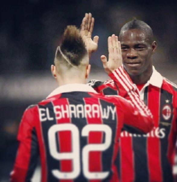 El Shaarawy and Balotelli  AC Milan