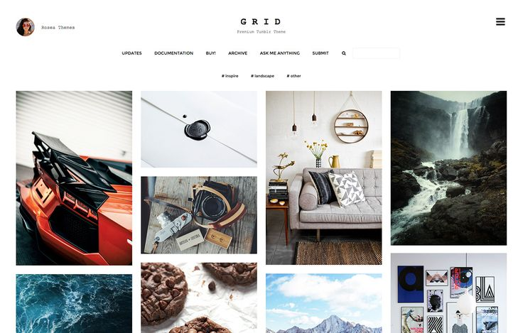 Premium Tumblr Theme for Fashion, Photoblogging #grid #web #website #tumblr #theme #premium