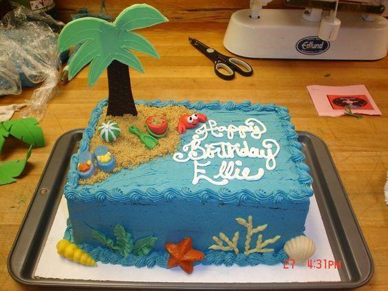 ocean themed sheet cakes   Pin Ocean Beach Theme Wedding Cake Cake on Pinterest
