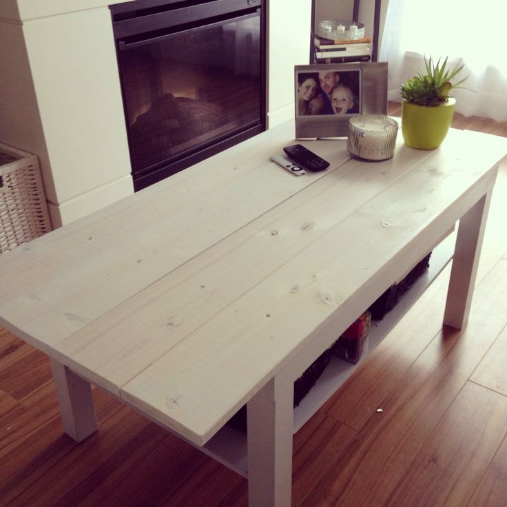 Lovely Finally Finished Building My Coffee Table! Transformed A Black Lacquer Ikea  Table Into This Piece With Some Spray Paint And Wood That I Cut To Size, ... Ideas