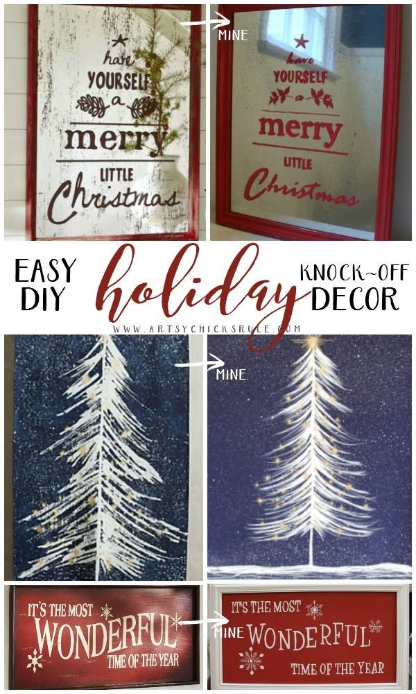 Good Morning Friends!! We recently shared our DIY Holiday Knock Off Projects with all of you and then you shared yours with us. Isn't it fun how that works? Thank you again linking up all your wonderful ideas and projects. Now on to the awesome DIY Holiday Knock Offs that we couldn't wait to feature …