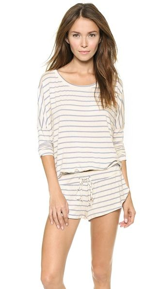 If I were going to spend $125 on PJs, it'd be for these: Eberjey Lounge Stripes Slouchy Top