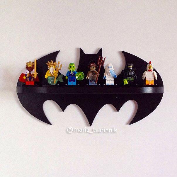 """Wooden shelf """"Batman"""" by Purplepollen on Etsy https://www.etsy.com/listing/237372542/wooden-shelf-batman"""