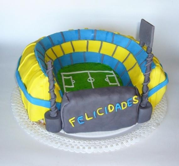 Mi primera tarta en 3D! La Bombonera!