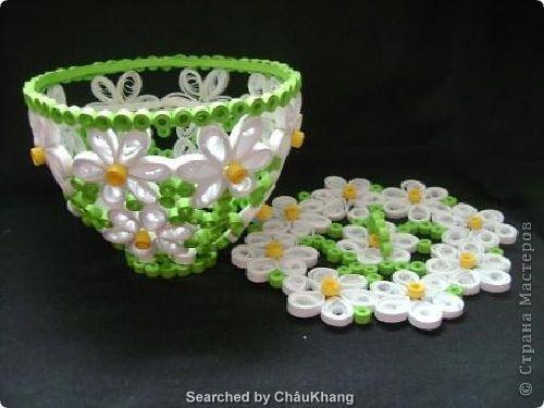 3D Paper Quilling Bowls