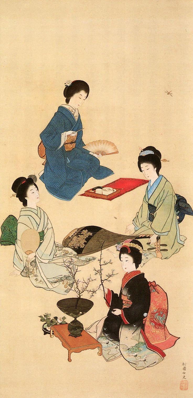 上村松園「四季美人図」(1892)