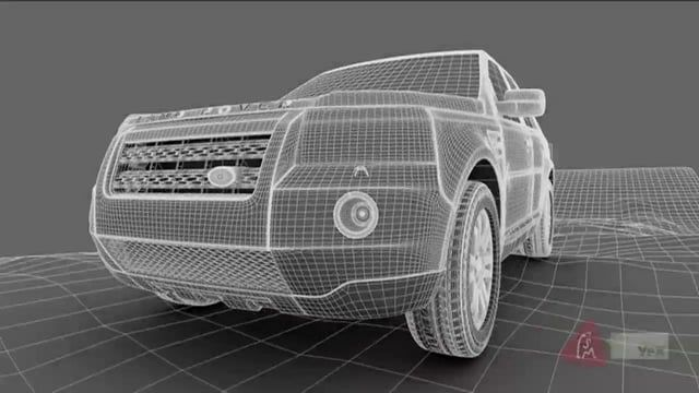 3D car model build. WIP to show different stages.