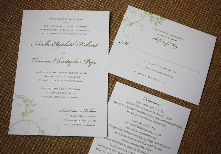 Simple Wedding Invitations Pinterest: 31 Best Images About Simple Wedding Invitations On Pinterest