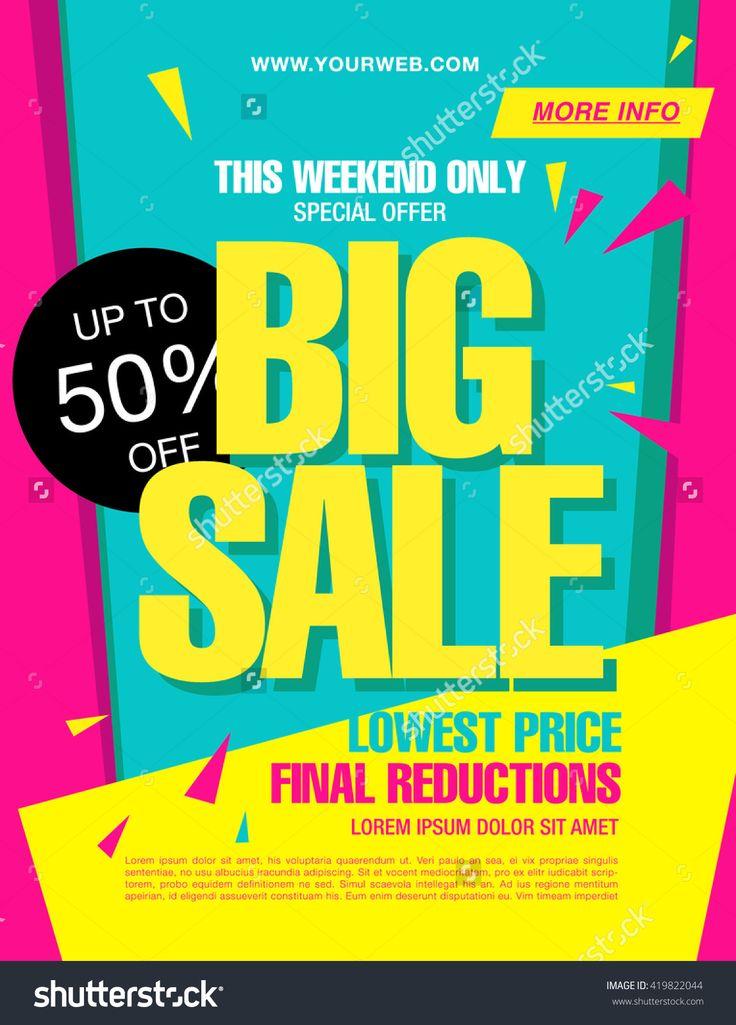 Bright Vector Sale Banner - 419822044 : Shutterstock