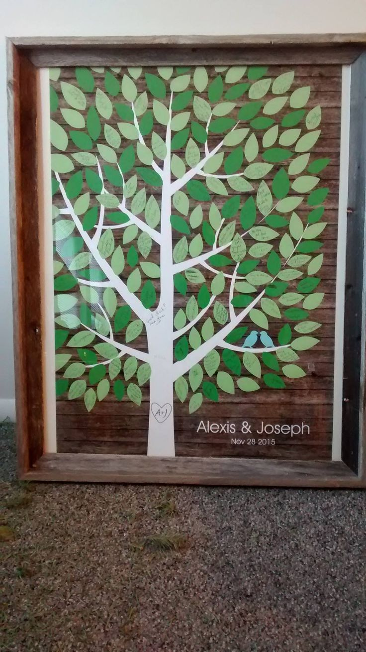 rustic wooden multicolor wedding tree guest book alternative rustic wedding customer photo - Books About The Color Green