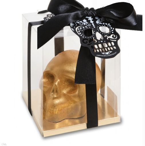 Artisan du Chocolat /golden chocolate skull #packaging #chocolate