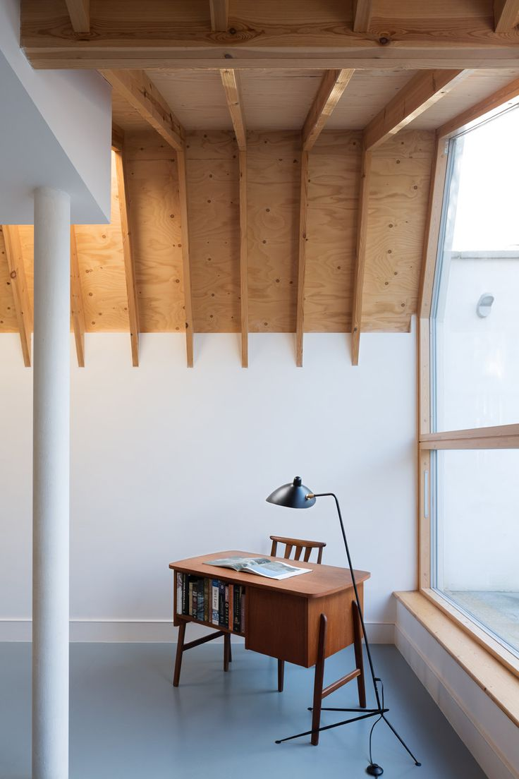 Harcombe Road by Forrester Architects is a London house extension with exposed wooden rafters