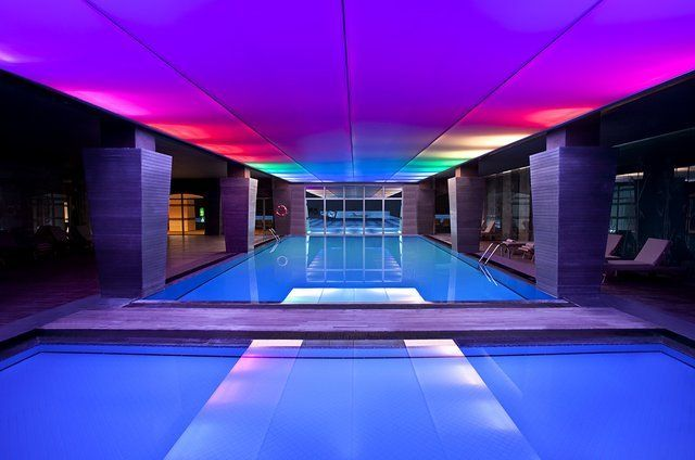 Fancy - Indoor Pool: Indoor Pools, Amazing Pools, Cool Pools, Beautiful Pools, Color Pools, Dreams Pools, Pools Indoor, Awesome Pools, Kempinski Hotels