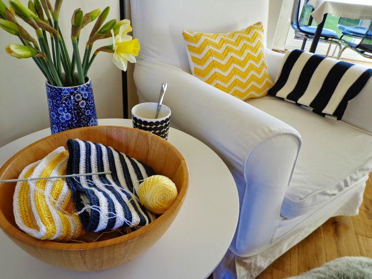 Yellow crochet