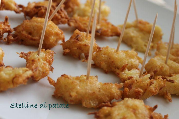 Stelline di patate e formaggio croccanti