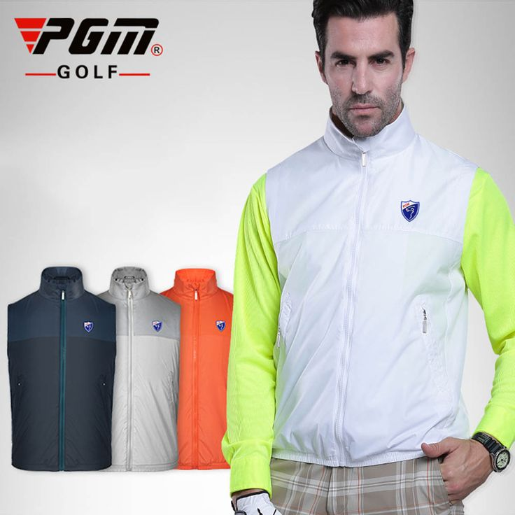 2016 PGM Golf Waterproof Vest Men Sportswear Apparel Jackets Windbreaker Waistcoat Four Seasons Sportswear Clothes