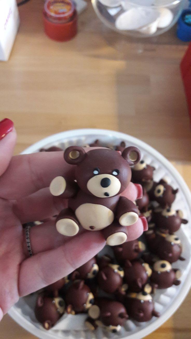 Sweet bears decoration. Fimo bear. Handmade. Aliba Ariton event planner