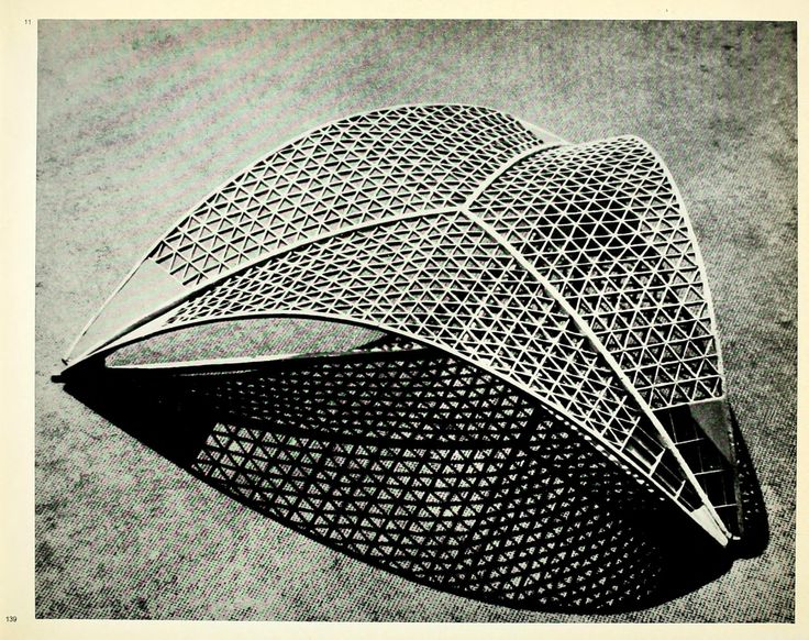 Model for the roof structure of the Centre National des Industries et Techniques in Paris, 1955