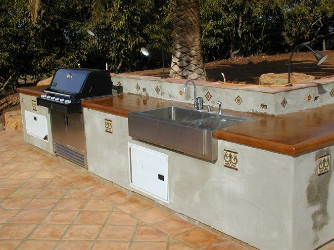 20 best outdoor kitchen images on pinterest kitchens for Spanish style outdoor kitchen
