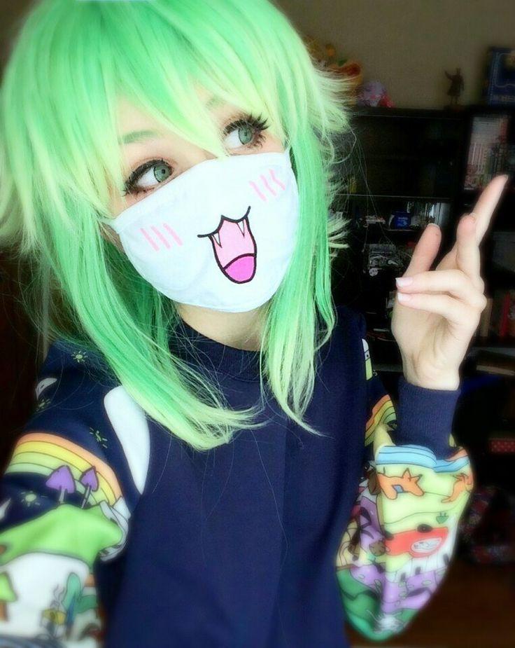 cute anime green hair girl | Pretty Girls | Pinterest ...