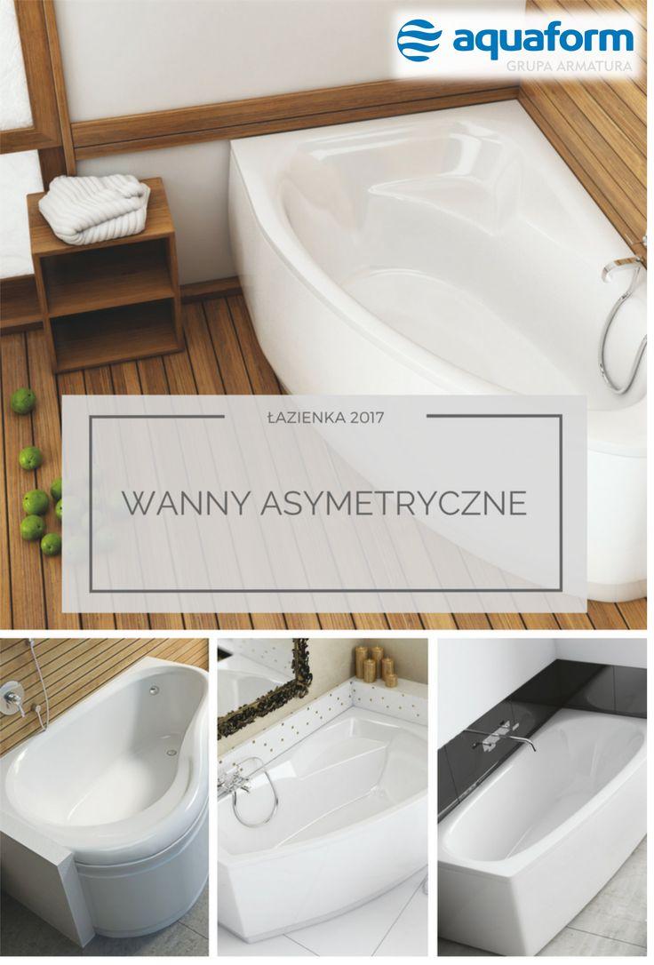 Wanna to dobry wybór nie tylko dla właścicieli dużych łazienek. Liczne modele o nietypowych, asymetrycznych kształtach wkomponować można nawet w pozornie mało ustawną przestrzeń. Oto kilka naszych propozycji. #Aquaform #bathroom #łazienka #WystrójWnętrz #wnętrza #wanna #asymetryczna #malalazienka #helos #simi #solo #senso