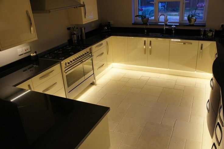 Kitchen lighting with LED strip lights