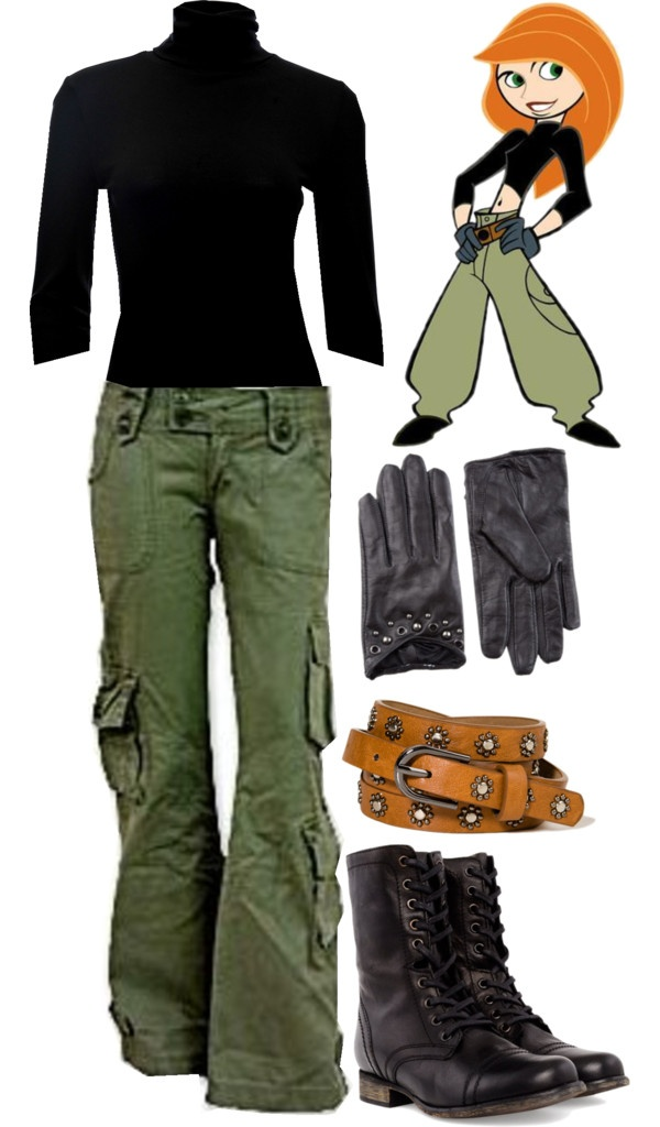 """Kim Possible"" by merahzinnia on Polyvore I know this is supposed to be a costume but I'd wear it just because."