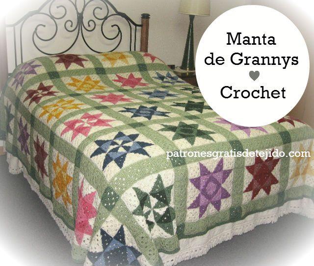Las mantas en patchwork generalmente son realizadas con la combinación de telas de diversos colores...