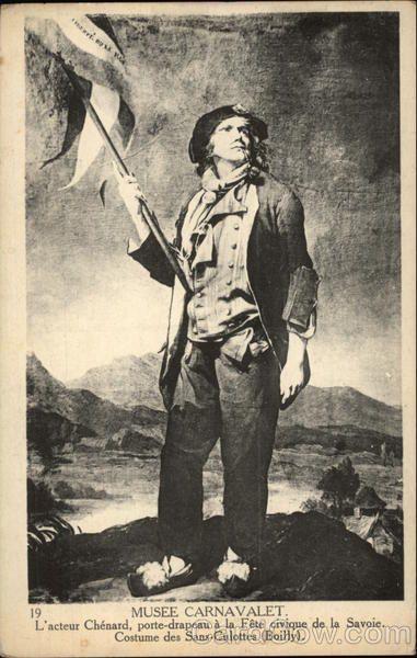 Musee Carnavalet, L'Acteur Chenard porte-drapeau a la Fete civique de la Savoie. Costume des Sans-Culottes (Boilly)