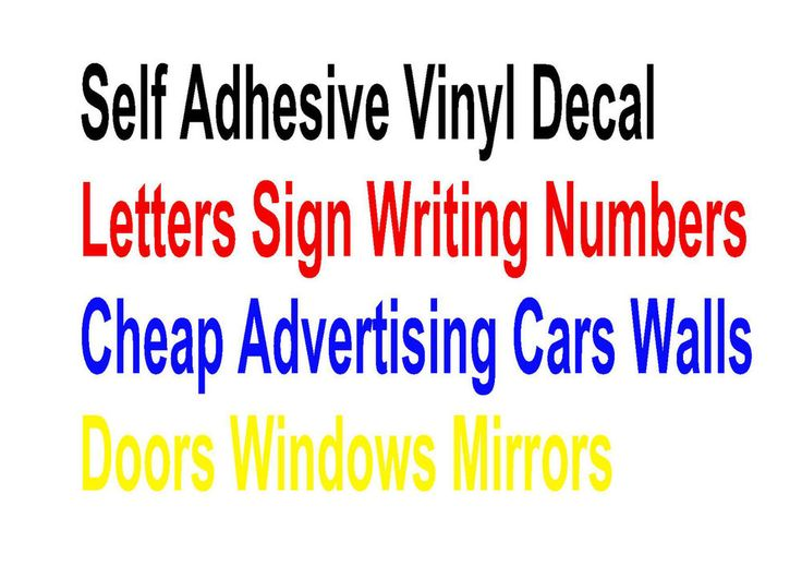 Letters Sign Writing Numbers Self Adhesive Vinyl Decal Advertising Cars Walls