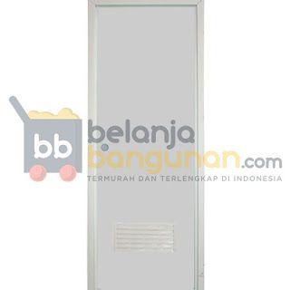 Pintu PVC Polos (Kusen 9cm) Dengan Slot Tarikan   PABRIK PIPA PVC & PINTU PVC