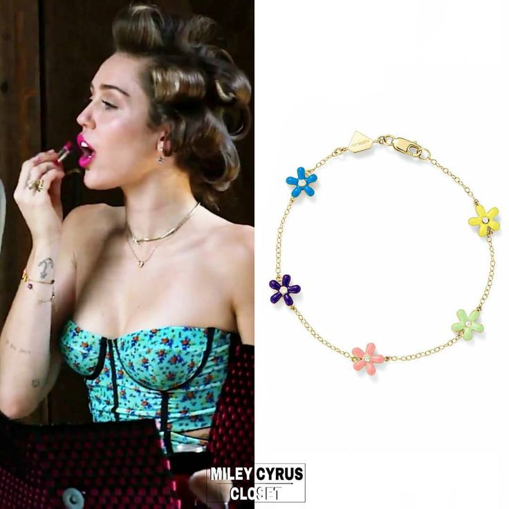 "599 Likes, 4 Comments - Miley Cyrus Closet (@mileycyrus.closet) on Instagram: ""Miley for Cosmopolitan, wearing : ⠀⠀⠀⠀⠀ ⠀ • @alisonlou Wildflower Bracelet • $1,475"""