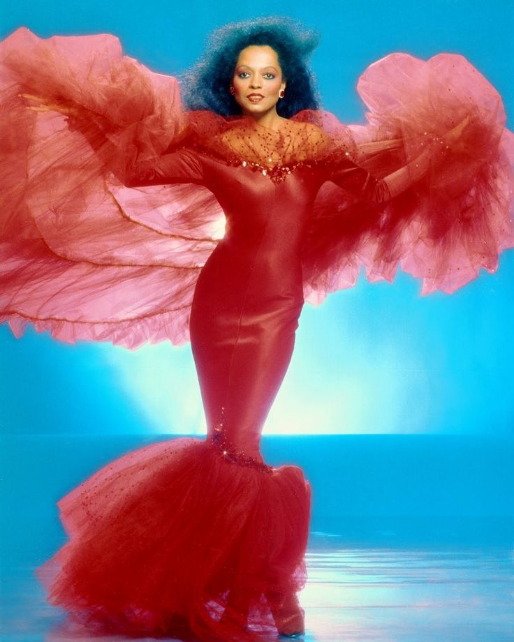 Diana Ross Costume   Diana Ross in a photo session for RCA records (1984)