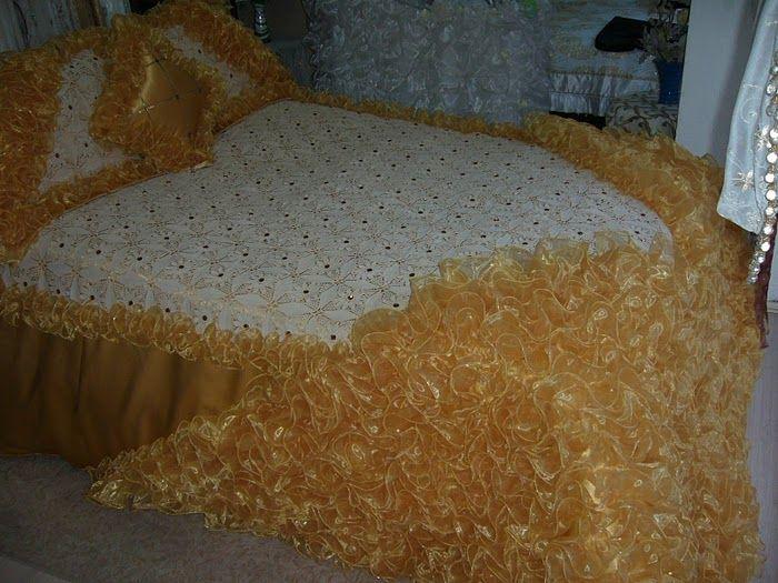 parrure de lit crochet couette au crochet pour mariée tradition algerien algerienne