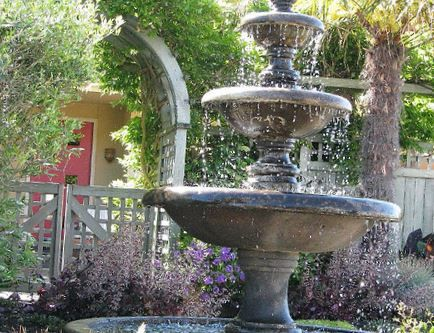 backyard fountains ideas