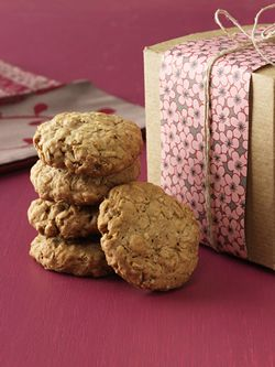 This is the Oatmeal Cookie Recipe I always use.  Especially yummy with white chocolate chips and craisins.