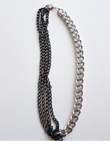 Half black chain necklace by An-If in chains
