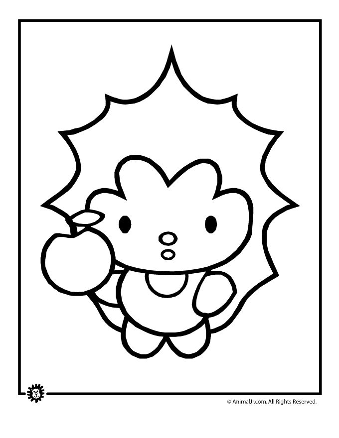 Cute Animals Coloring Pages Cute Animal Coloring Page