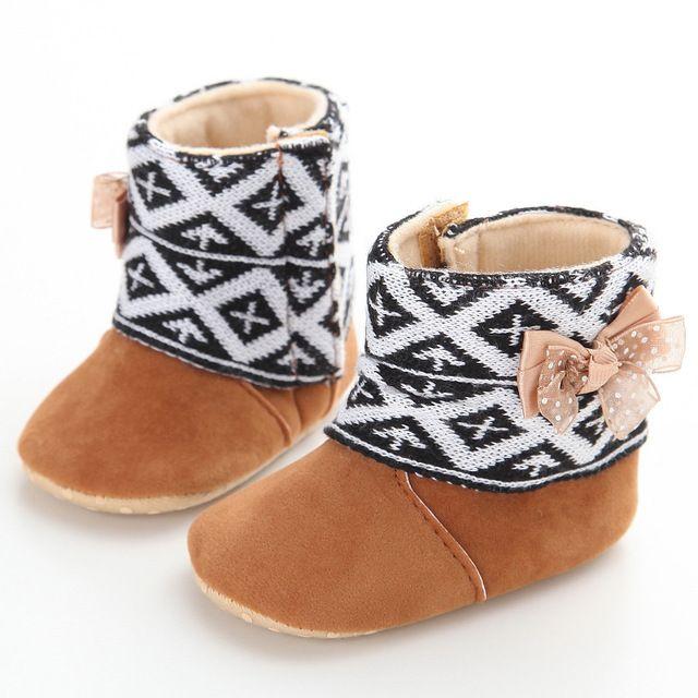 Bébé Bottes Bottes de Neige D'enfants D'hiver Enfants Chaud Infantile Lit Garçons Filles De Fourrure D'hiver de Neige Chaussures