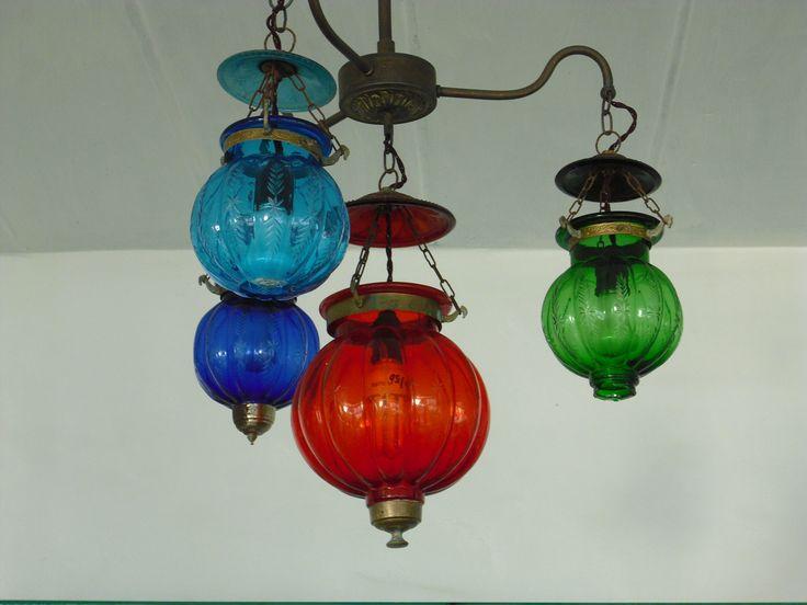 lampa färgat glas
