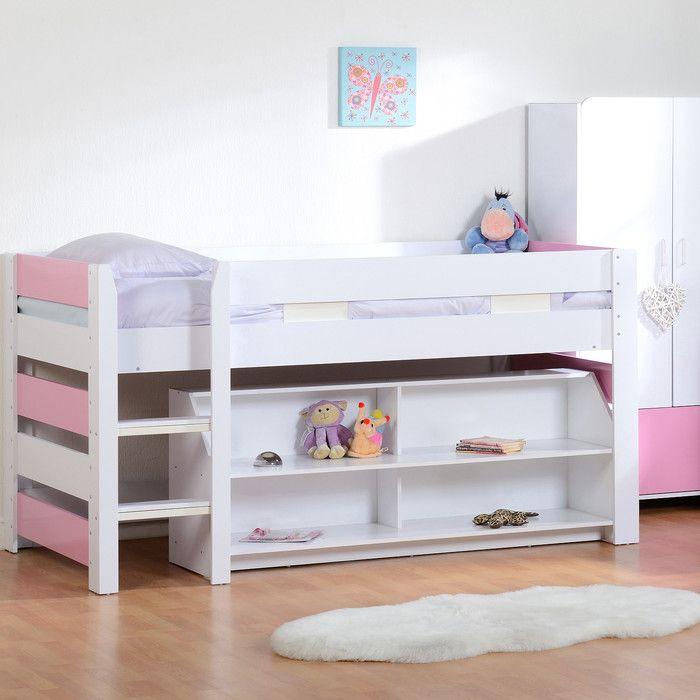 Home & Haus Lollipop Single Mid Sleeper Bed with Storage & Reviews | Wayfair UK