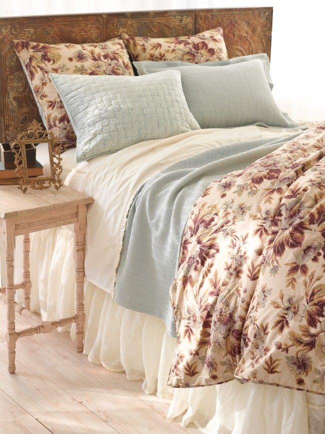 Elegant Landon Duvet Cover U0026 Shams, Matte Velvet Glacier Quilt U0026 Shams, Hardwood  Canopy Blue · Pine Cone HillPine ...