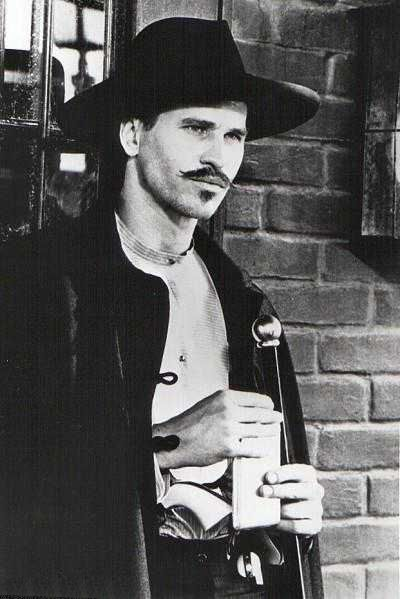 """Make no mistake, it's not revenge he's after.  It's a reckonin'.""   - Val Kilmer as Doc Holliday."