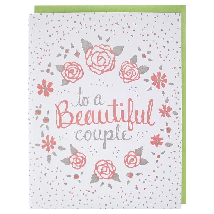 Beautiful Blooms Wedding Card